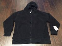 CHAMPION C9 Size L Large Ebony Full Zip Brushed Back Hoodie Hooded Jacket NWT