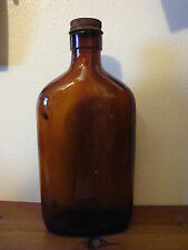 BROWN GLASS EMPTY LIQUOR BOTTLE