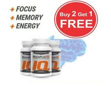 BrainPlus IQ 60 Capsules BUY 2 GET 1 FREE concentration boosters! Brain plus