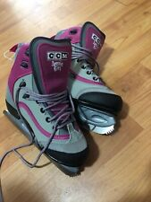 Ccm Jamie Girl Pink/Gray Girl'S Figure Skates Sz 4