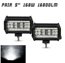 "2x 5"" 144W Combo Beam LED Light Bar Off Road Work Spot Flood Lamp for Truck Jeep"