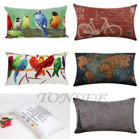 Super Soft Cotton Linen Pillow Case Sofa Waist Throw Cushion Cover Home Decor