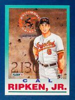 Cal Ripken Jr. #711 (1992 Fleer) Ironman Card, Baltimore Orioles, HOF