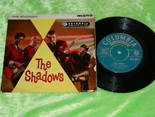 """THE SHADOWS : first debut EP - 1961 UK 1st press Turquoise Columbia 7"""" EX 195"""