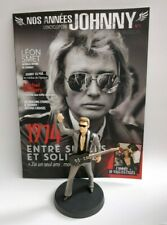 Figurine Johnny Hallyday 14 cm Neuf en boite + magazine N°1 Collection statuette