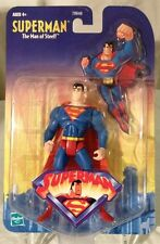 2001-SUPERMAN-THE ANIMATED SERIES FIGURE-SMALL CARD/MINT AFA READY VHTF LOOK!!!