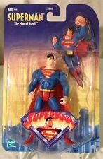 2001-SUPERMAN-THE ANIMATED SERIES FIGURE-SMALL CARD/MINT AFA READY VHTF LOOK!!!