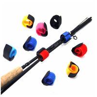 10x Reusable Fishing Rod Tie Holder Strap Fastener Ties Fishing Belt Accessories