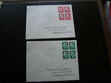 FRANCE - 2 enveloppes 13/1/1969 (cy48) french