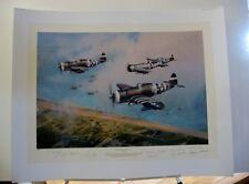 Hell Hawks Over Utah D-Day P-47 Thunderbolt Robert Taylor 11 Signed Aviation Art