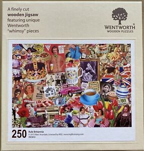 """WENTWORTH """"Rule Britannia"""" 250 piece Wooden JIGSAW PUZZLE Whimsy"""