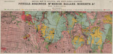Pitfield Rokewood Mt Mercer Ballark Meredith mines geology. Victoria 1909 map