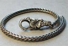Genuine Sterling Silver TROLLBEADS 20cm BRACELET. 18cm + ELEPHANT LOCK New