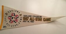VINTAGE 1987 OAKLAND A'S MLB ALL STAR GAME OAKLAND COLISEUM PENNANT 7/14/87