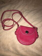 Marc By Marc Jacobs Bright Rosa Leather Mini Crossbody Bag Purse Silver Details