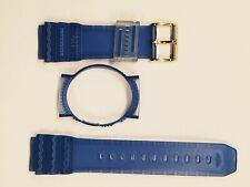 horloge band Immersion kunststof , voor horloge model Full blauw nieuw