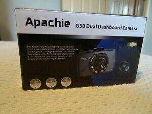 """Apachie G30 2.7"""" Screen HD Dual Front & Rear Dash Cam ."""