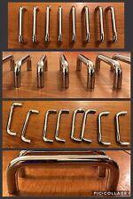 "8 Handles Pulls Bar Silver Plastic Cabinet Drawer U Shape 3 7/8"" between holes"