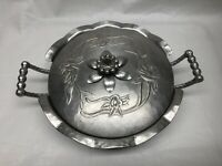 Vintage Everlast Hammered Forged Aluminum Pot with Floral Pattern Lid