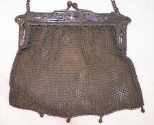 Art Nouveau Mesh Purse German Silver Handbag Evening Bag Vintage