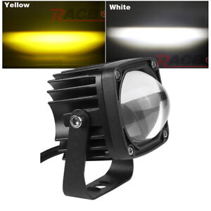 1X Pods LED Work Light Bar Square Driving White+Yellow Dual Color Off Road Fog