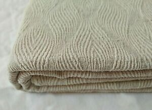 softened linen blanket bedspread Coverlet throw ivory - natural gray King size