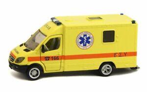 Mercedes-Benz Sprinter 906 Yellow Ambulance EKAB Greece Greek Siku 2108 GR