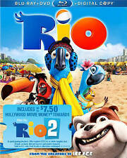 RIO 2 (Blu-ray+DVD+Digital HD) NEW NO Outer SLIP