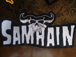 Samhain BACK Patch Large Embroidered Misfits Danzig Metal Patch High-quality