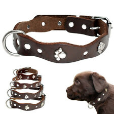 XXS-M Leather Paw Studded Dog Collars Small Pet Puppy Cat Necklace for Chihuahua