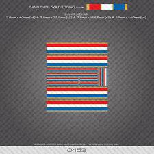 0453 Strisce Separazione francese Bande-Bicicletta Decalcomanie Adesivi-BORDI BIANCO