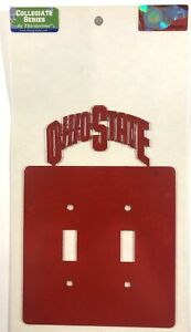 OSU - OHIO STATE University Double Toggle Light Switch Wall Plate - Scarlet