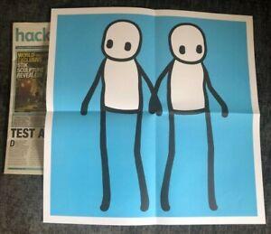 STIK Hackney Holding Hands Print Blue