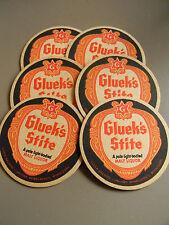 Gluek's Stite Malt Liquor Coasters (Set of 6) Gluek Brewing Company Mpls MN