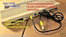 Commodore 64 128 C64 C128 Television TV RF Video Cable Connector Switch Box