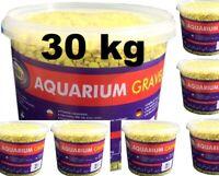 Farbkies Fluo Gelb Aquarium Bodengrund 30 KG (6 x 5kg) im Eimer