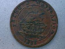 Nova Scotia 1/2 Penny Token 1813 NS#21A3 Canada Trade Navigation Half Penny.