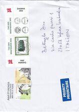 Storia postale, lettera dall'Austria x l'Italia affrancata con 3 stamps