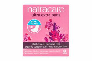 Natracare Ultra Extra Super Pads Organic Cotton 10 Pads Multi Buy Savings