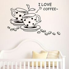 Decoration Coffee Cup Paster Wall Stickers Home Decor Kitchen Wall Decals
