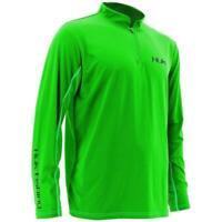 60% Off HUK ICON CAMO 1/4 Zip LS Fishing Shirt-- Green -- Free Ship