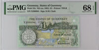 Guernsey 1 Pound ND 1991 P 52 c Superb  Gem UNC PMG 68 EPQ Top Pop