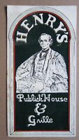 1980s Berkeley HENRY'S Publick House & Grille Menu, Cover Henry Durant, CA