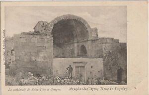 1901 GREECE CRETE HERAKLION SAINT TITOS CATHEDRAL IN GORTYNE AGII DEKA