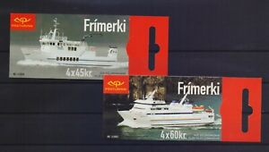 ICELAND 2003 CRUISE SHIPS ISSUE MNH STAMPS IN 2 BOOKLETS