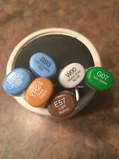 Copic Sketch Dual Tip Markers YOU CHOOSE COLOR!! BRAND NEW  blues, green, brown