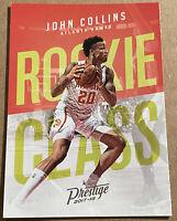 John Collins RC 2017-18 Panini Prestige Rookie Class Atlanta Hawks #19