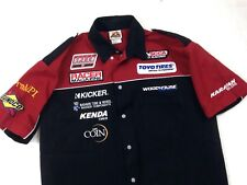 Speed Zone Race Gear patched Shirt Mens size M  #A12