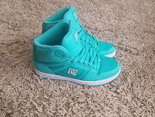 DC Women's Rebound High Tops Shoes UK 5 green amazing condition.