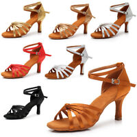 Las mujeres Zapatos de baile latino de salsa Tango Salon tacon de 8 colores